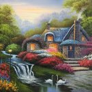 """Hand painted oil painting on canvas""""Image of the countryside""""50x60CM(19.7""""x23.6"""")Unframed-239"""
