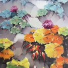 "Hand painted oil painting on canvas""Lotus and goldfish""60x120CM(24""x48"")Unframed-156"
