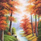 "Hand painted oil painting on canvas""Creek""70x140CM(30""x55"")Unframed-804"