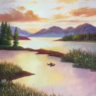 "Hand painted oil painting on canvas""creek""60x90CM(23.6""x35.4"")Unframed-808"