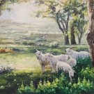 "Simple modern Hand painted oil painting on canvas""Shepherd""90x120CM(36""x48"")Unframed-27"