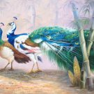 "Simple modern Hand painted oil painting on canvas""Gorgeous peacock""80x160CM(33""x63"")Unframed-119"