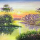 "Hand painted oil painting on canvas""creek""60x90CM(23.6""x35.4"")Unframed-814"