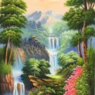 "Hand painted oil painting on canvas""Mountain and water""80x160CM(33""x63"")Unframed-817"