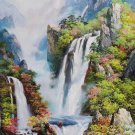 "Hand painted oil painting on canvas""Mountain and water""80x130CM(33""x52"")Unframed-821"