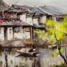 """Hand painted oil painting on canvas""""Image of the countryside""""65x94CM(25.6""""x37"""")Unframed-244"""