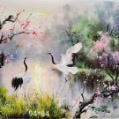 """Chinese style Hand painted oil painting on canvas""""Red-crowned crane""""65x94CM(25.6""""x37"""")Unframed-12"""