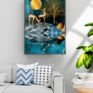 Nordic modern abstract elk decorative painting hanging picture-01