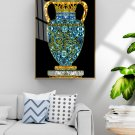 Modern abstract gold leaf enamel European style vase decorative painting-06