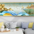 Modern abstract gold leaf leaves golden elk abstract decorative painting-08