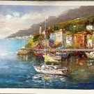 "Mediterranean style Hand painted oil painting on canvas""Sea view""60x90CM(23.6""x35.4"")Unframed-76"