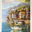 "Mediterranean style Hand painted oil painting on canvas""Sea view""60x90CM(23.6""x35.4"")Unframed-77"