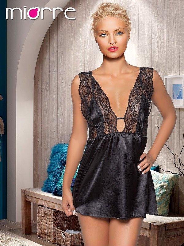 Women Lace Satin Short Nightwear Sleepwear Gown Sexy Dress V Neck Lingerie