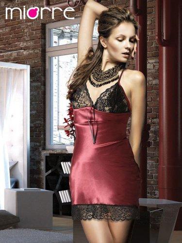 Gorgeus Satin Lace Short Sleapwear Nightwear Babydoll Women Dress Lingerie Nightgown