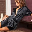 Women Satin Gown Nightwear Sleepwear Gown Sexy Dress Robe Lingerie Nightgown
