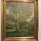 ANTIQUE R. MOELLER 1899-1984 FLORIDA / GERMANY IMPRESSIONIST LANDSCAPE