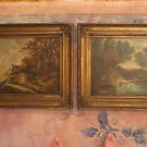 Antique 19th Two Painting L. Doriat French Impressionist Landscape Oil/Canvas