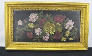 Antique Original Floral Still Life Oil on Board Brueghel School Painting