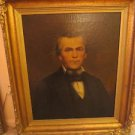 LARGE EARLY 19TH CENTURY REGENCY ANTIQUE OIL PAINTING PORTRAIT OF A GENTLEMAN