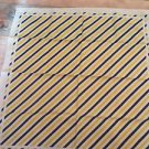 "TERRIART  Blue, Yellow, Purple  30"" Square Scarf-Vintage"