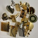 Vintage Cuff Link Assortment 1 dozen pair plus tie bar assortment