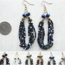 Assorted Multi Seedbead Colored Fashion Earrings