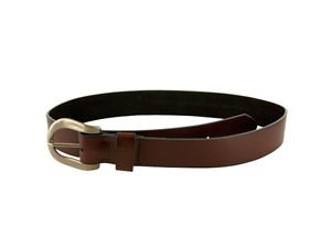 Large Brown Belt with Silver Buckle