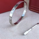 WHITE GOLD CARTIER LOVE SCREW BRACELET~ALL SIZES
