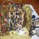 Ethnic jewelry Lot-1; vintage to modern beadwork, gold and silver toned; assorted