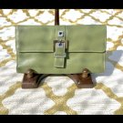 PERLINA 100% REAL LEATHER WALLET GREEN