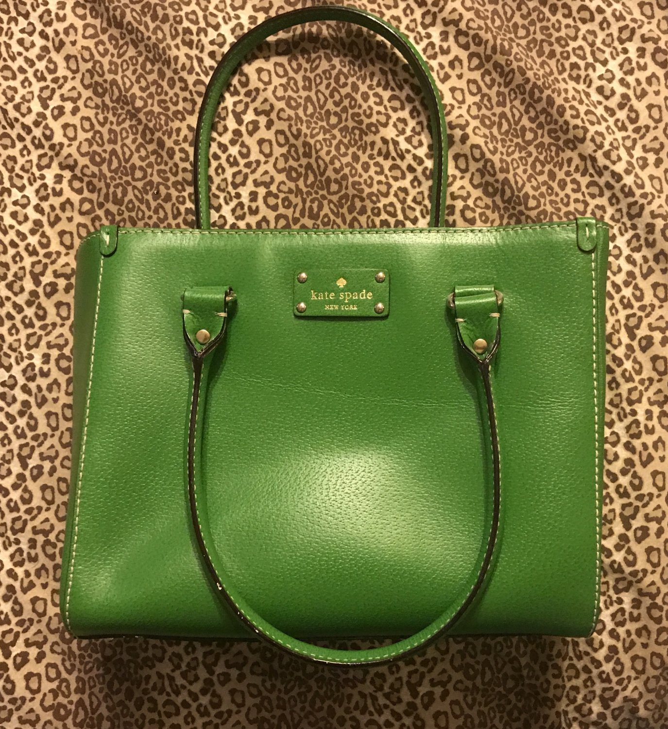 Emerald Green Handbag Tote Purse