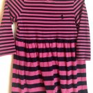 Baby Girls Polo Ralph Lauren Pink & Blue Striped Dress 18M