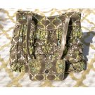 VERA BRADLEY 2 PCS SET CHA CHA RUFFLE SITTIN IN A TREE PURSE HANDBAG & WALLET GREEN