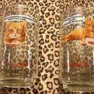 "SET OF 2, 9 LIVES Morris The Cat Drinking  Glasses 7-8"" Tall Excellent~ L@@K!!"