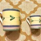 Set Of 2 Caleca Carousel Ceramic Pastel Hand Painted in Italy Yellow Mug 6 avail