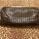 NEW HOBO INTERNATIONAL LAUREN BLACK LEATHER DOUBLE WALLET CLUTCH RET $148 NWOT