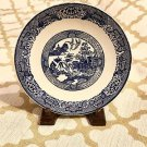Antique Blue Willow Staffordshire Blue & White Transferware Plate England