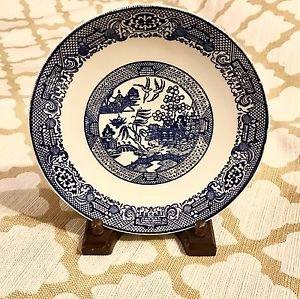 Antique Blue Willow Staffordshire Blue & White Transferware Plate England