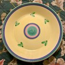 "Caleca Carousel Hand Painted in Italy Yellow- 16"" Deep Round Platter/Chop Plate"