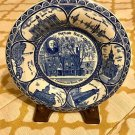 STAFFORDSHIRE Transfer LONGFELLOW HOUSE 1785 Portland Blue Plate Co England