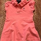 TODDLER GIRLS PINK POLO RALPH LAUREN 100% COTTON FLARE DRESS SZ 18M Months