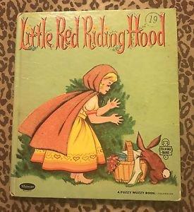 LITTLE RED RIDING HOOD   Fuzzy Wuzzy  Whitman Tell A Tale Nancy Carroll 1960 VG
