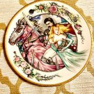 "Rare ""Rescued"" Limited Ed. Collector Plate Camelot Prince Princess Kiss 24k"