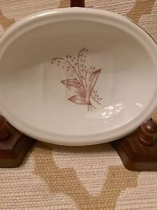 Lefton  #6124 White & Red Flower Floral Soap Dish Handpainted Fine China Vintage