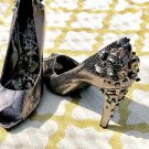 Sam Edelman Boutique Leather Pumps OG $185 Studded Heels Bling Sz 10 MUST SEE!!