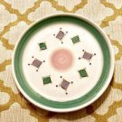 CALECA BELVIDERE ITALY 11-1/4 DINNER OR CHOP PLATE GREEN & PURPLE Ceramc 4 Avail