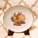 "Schumann Arzberg #25 Fruit China Plate 7.5"" w/ Gold Scalloping Bavaria, Germany"