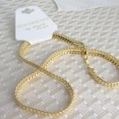 "Statements 7MM Herringbone 18"" Chain Necklace Gold Plated Nicole Paige"