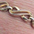 """Vintage Trifari Elegant Swirl Link Gold Plated Bracelet 7.25"""" Pat Pend Signed"""