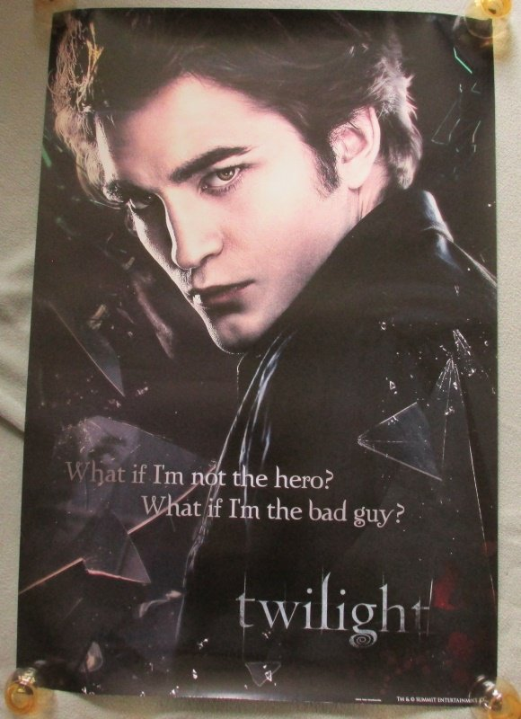 Twilight Saga Edward Broken Glass Poster 24x36 Robert Pattinson What If Bad Guy?